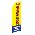 1-2 BR Apartment 6ft Feather Flag yellow