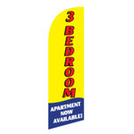 3 BR Apartment 6ft Feather Flag yellow