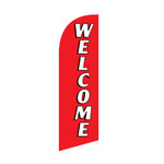 Welcome 6ft Feather Flag red