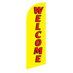 Welcome 6ft Feather Flag yellow