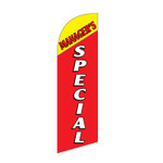 Manager's Special 6ft Feather Flag red yellow