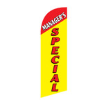 Manager's Special 6ft Feather Flag yellow red