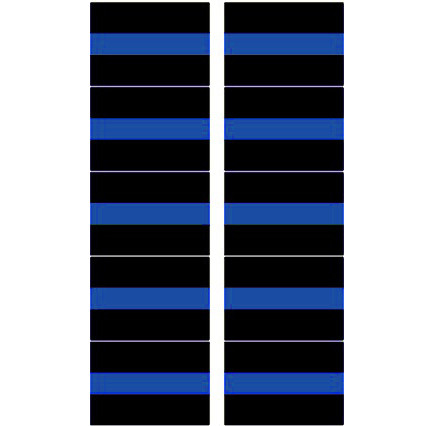 Thin Blue Line Police Small Decal Sheet of 10