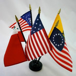 Colonial Series #1 - 5 Stick Flag Set with Base