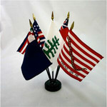 Colonial Series #2 - 5 Stick Flag Set with Base