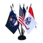 Armed Forces Stick Flag Set of 6 with Base