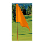 Orange Golf Flag