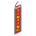 Auto Tinting Feather Flag (checkered)