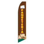 """Paquetería (Spanish for """"Parcel Service"""") Feather Flag"""