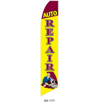 Auto Repair (yellow and red) Feather Flag