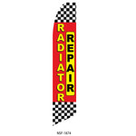 Radiator Repair (yellow and red) Feather Flag