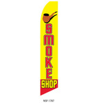Smoke Shop (yellow background) Feather Flag