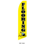 Flooring (yellow background) Feather Flag