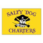 Salty Dog Charters 12x18 Custom Flag
