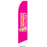 Dunkin Donuts (pink background) Feather Flag