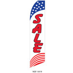 Sale (red stripes) Feather Flag