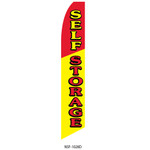 Self Storage (yellow/red) Feather Flag