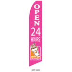Dunkin Donuts Open 24 Hours Feather Flag