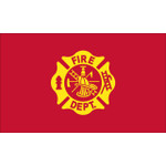 FIRE DEPARTMENT LOGO 3x5 Lightweight Flag