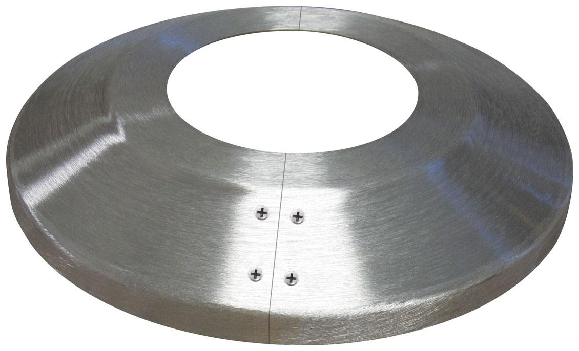 Split Aluminum Flash Collar - Satin Finish