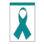 Ovarian Cancer Teal Ribbon Garden Flag