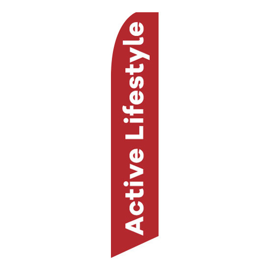 Active Lifestyle Feather Flag