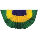 Mardi Gras 3' x 6' Nylon Pleated Fan
