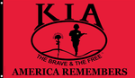 Killed In Action KIA 3 x 5 Nylon Flag