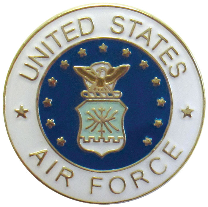 Air force lapel pin for Air force decoration writing guide
