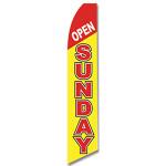 Open Sunday Feather Flag