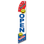 Open sign welcome smiley face