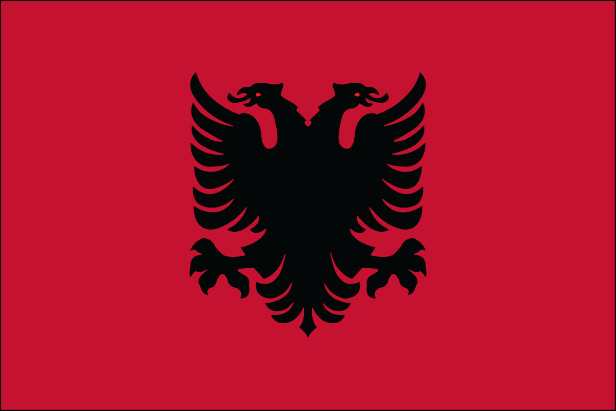 Albania for Albanian flag coloring page