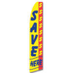 Save Here Feather Flag