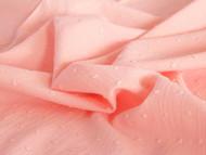 Swiss Dot cotton - Pale Salmon
