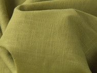 Enzyme Washed Eco Linen - Chartreuse