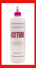 Empty Plastic Bottle - Acetone 16 oz.