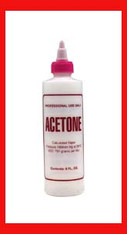 Empty Plastic Bottle - Acetone 8 oz.