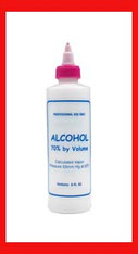 Empty Plastic Bottle - Alchohol 8 oz.