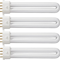 CND UV Lamp Original Replacement Bulbs (4 bulbs/9watts)