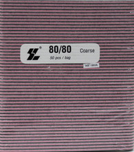 Black File w/ Pink center 80/80  (pack of 50)