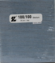 STL Nail Files Blue/Black center 100/100 (pack of 50)