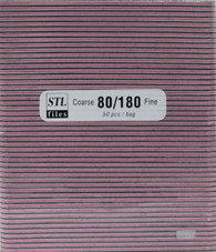 STL Nail Files Pink/Black center 80/180  (pack of 50)