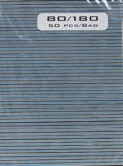 Jumbo Square Black 80/180  (pack of 50)