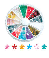 Rhinestone Wheels Flowers