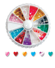 Rhinestone Wheels Hearts