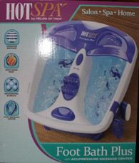 Hot Spa Foot Bath Plus w/ Acupressure massage center