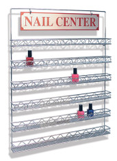 Nail Polish Metal Wall Rack (90 Bottles)
