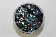 Starlight Nail Art Glitter - 8 Gray Hexagon (2 oz.)