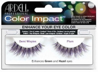 Ardell Eyelashes - Natural Color Impact Demi Wispies Plum Enhances Green & Hazel (61477)