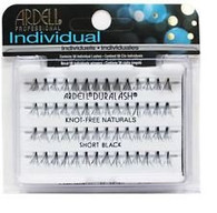 Ardell Eyelashes - Natural Duralash Knot Free Individuals Short Black (65050)